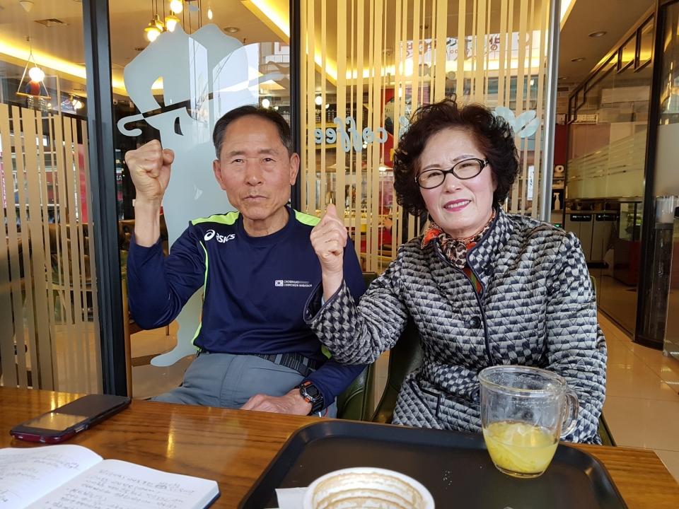 대구의 대표적 70대 마라토너 강시배(72) 서자해(75)