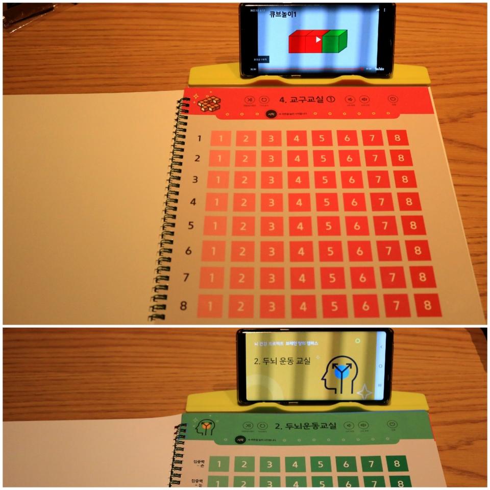 브레인솔루션즈의 치매예방 인지교육 프로그램은 누구나 쉽게 활용 가능한 종이 터치북을 통해 교육하고 교육 받을 수 있다.             이원선 기자